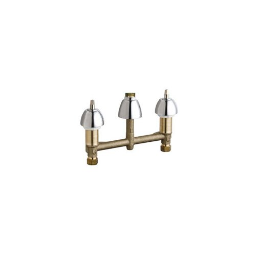 Chicago Faucets Widespread Sink Faucet Less Handles