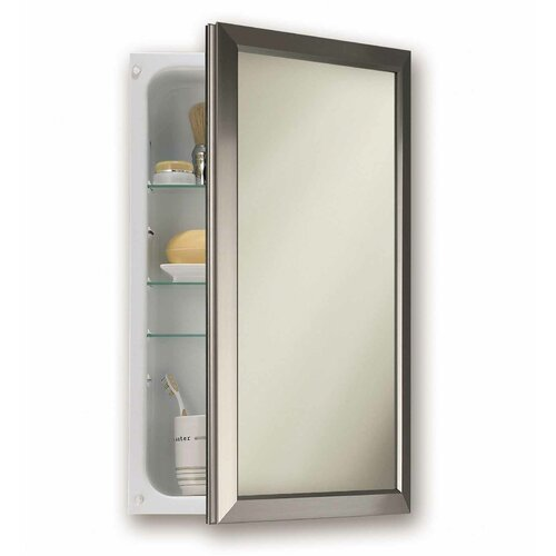 Broan-15.75-x-25.5-Recessed-Medicine-Cabinet Recessed Mirrored Medicine Cabinets For Bathrooms