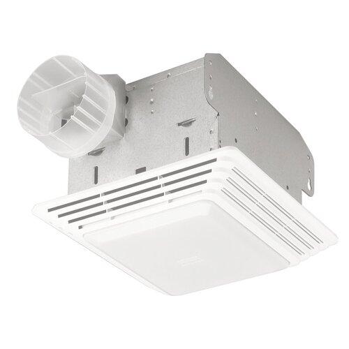Heavy Duty 50 CFM Bathroom Exhaust Fan with Light