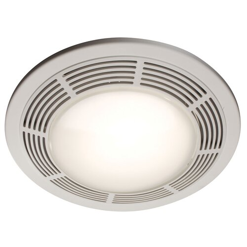Broan Nutone Round 100 CFM Exhaust Bathroom Fan with Light and Night Light