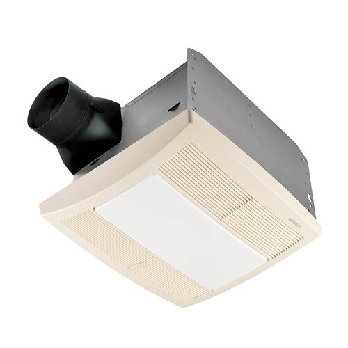 2 Bulb 80 Cfm Ceiling Bathroom Exhaust Fan With Light And: Broan Round 100 CFM Exhaust Bathroom Fan With Light And