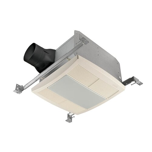 Ultra silent 80 cfm energy star bathroom exhaust fan with fluorescent light wayfair for Ultra quiet bathroom exhaust fan with light