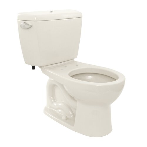 Toto Drake 1.6 GPF Round 2 Piece Toilet with Bolt Down Lid