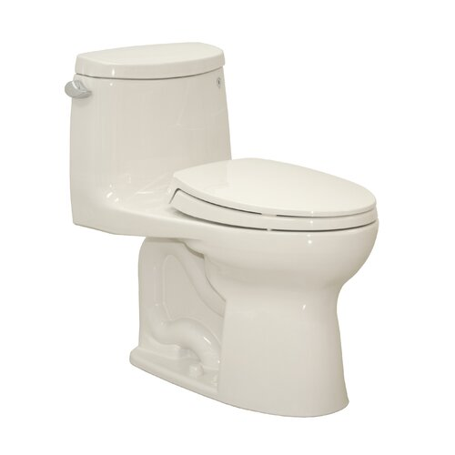 Gwyneth 1.28 GPF Elongated 1 Piece Toilet with SanaGloss