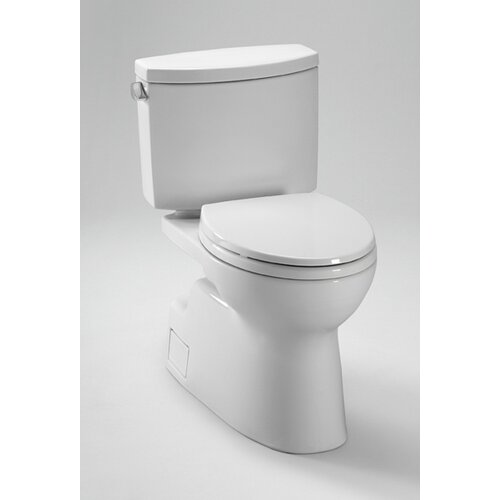Vespin II High Efficiency 1.28 GPF Elongated 2 Piece Toilet with SanaGloss Glaze
