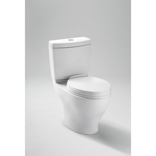 Aquia Dual Flush 1.6 GPF / 0.9 GPF Elongated 2 Piece Toilet with 10