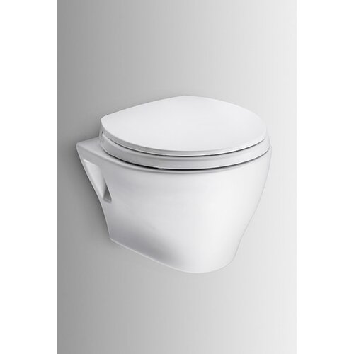 Aquia Wall Hung 0.9 GPF / 1.6 GPF Elongated 2 Piece Toilet with PEX Supply ...