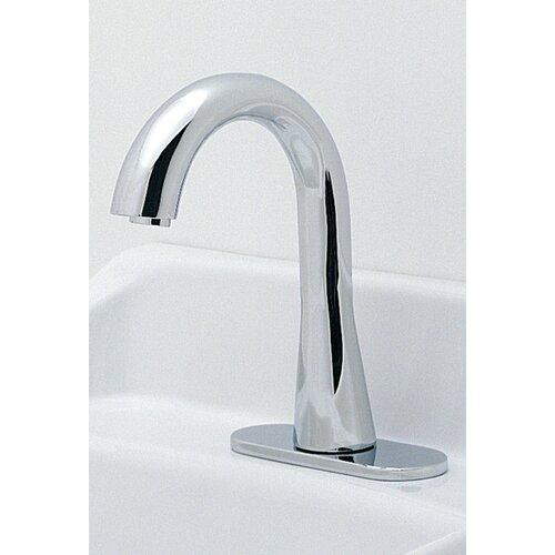 Toto Ecopower Single Hole Electronic Gooseneck Faucet Less Handles with 10 Second Continous Discharge