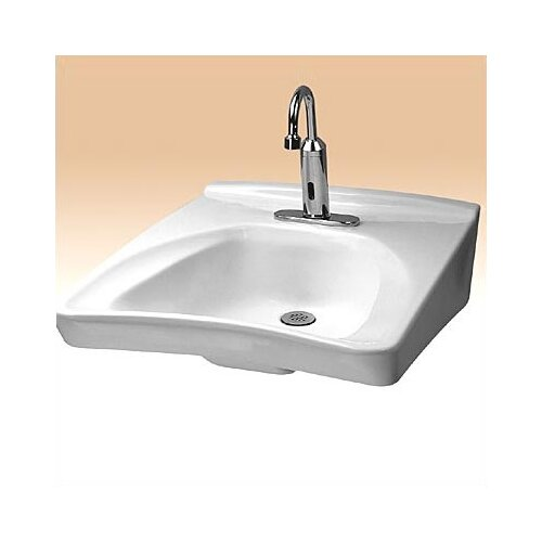 Toto Wall Mount Wheel Chair Access Bathroom Sink with Centers and Soap Dispenser Hole Drilling