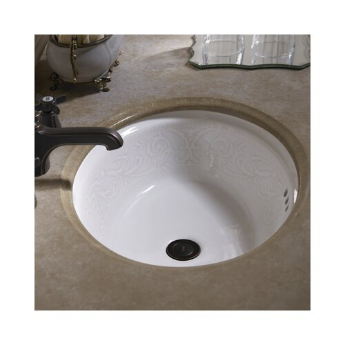 Toto Waza Barocco Undercounter Bathroom Sink