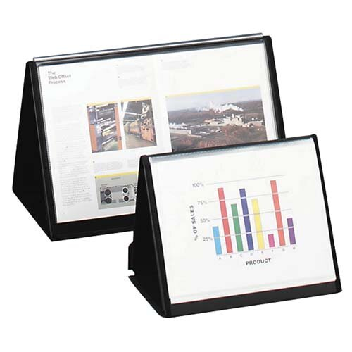 """Lion Office Products Flip-N-Tell Horizontal Easel, 11""""x8-1/2"""", Black"""