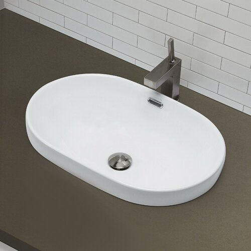Recessed Bathroom Sink : ... Redefined Semi Recessed Oval Bathroom Sink & Reviews Wayfair