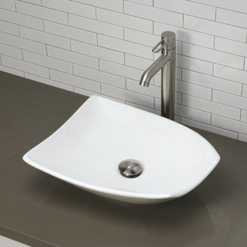 Classically Redefined Non-Symmetrical Vessel Bathroom Sink
