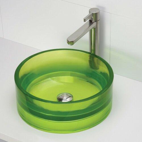 DecoLav Incandescence Round Vessel Bathroom Sink