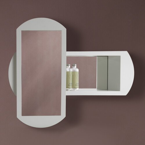 DecoLav Gabrielle Abstract Framed Mirror