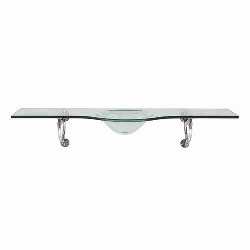 Translucence™ Brickell Wall Mount Tempered Glass Bathroom Sink