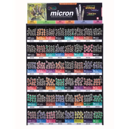 Sakura of America Micron Pigma Mega Dealer Pen Display