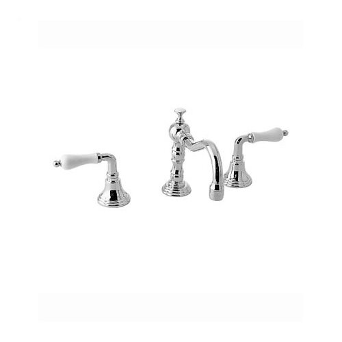 Victorian Widespread Bathroom Faucet with Double Porcelain Lever Handles