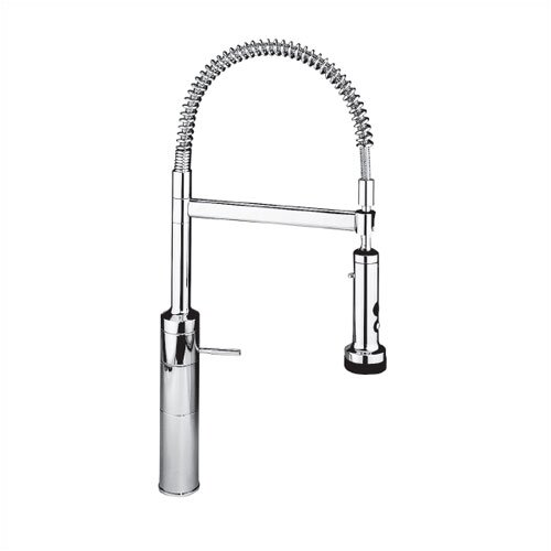 IQ One Handle Single Hole Bar Faucet with Pull Down Spray