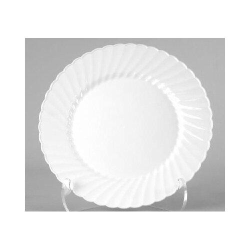 """WNA Comet (144 Per Container) 10.25"""" Classicware Plastic Plate in White"""