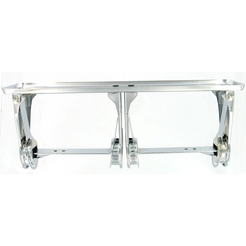 Franklin Brass Double Roll Economy Paper Holder in Polished Chrome