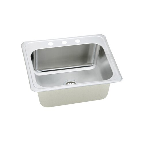 "Elkay Gourmet 25"" x 22"" x 10.25"" Top Mount Kitchen Sink"