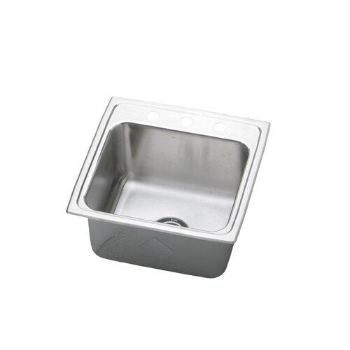 """Elkay Gourmet 19.5"""" x 19"""" Top Mount Kitchen Sink"""