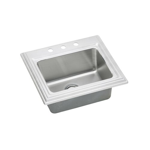 "Elkay Echo 25"" x 22"" Top Mount Kitchen Sink"