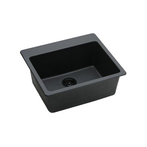 "Elkay Gourmet 25"" x 22"" Single Bowl Kitchen Sink"