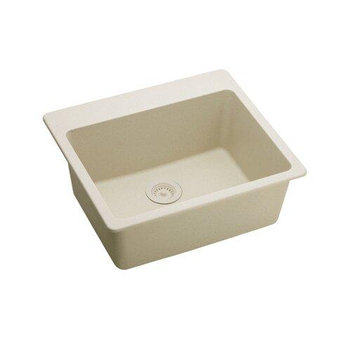 "Elkay Gourmet 25"" x 22"" E-Granite Kitchen Sink"