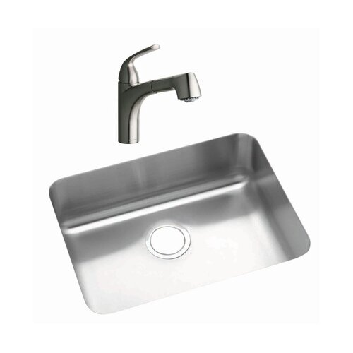 "Elkay 22.5"" x 17.25"" Kitchen Sink with Faucet"