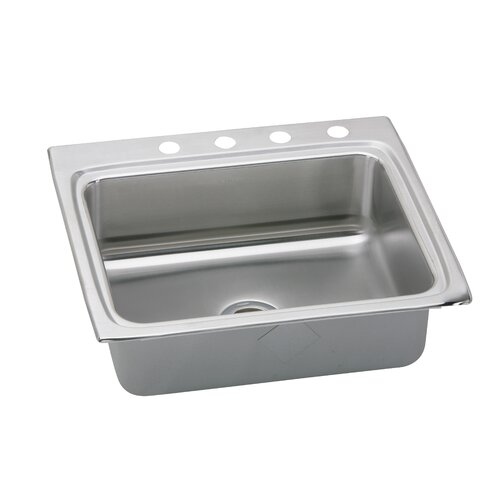 """Elkay Gourmet 25"""" x 22"""" Lustertone Singer Bowl Kitchen Sink"""
