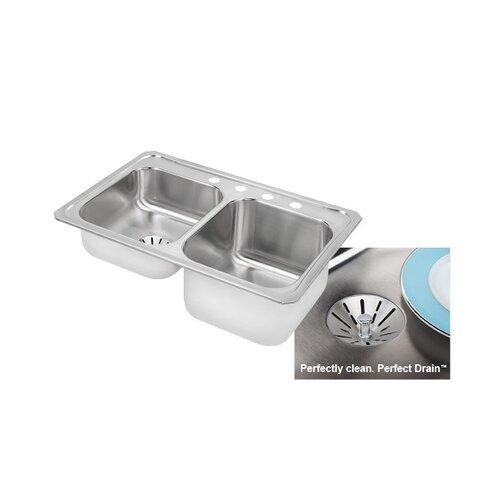 """Elkay Gourmet 33"""" x 22"""" x 9.13"""" Kitchen Sink"""