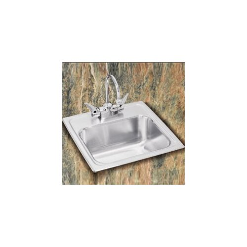 """Elkay Pacemaker 15"""" x 15"""" Self-Rimming Bar Sink with Faucet"""