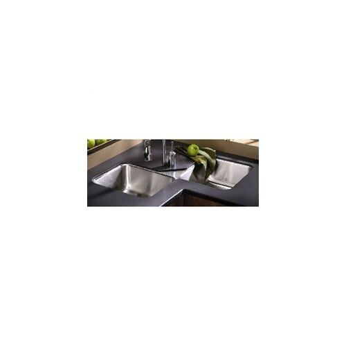 "Elkay Lustertone 32"" x 32"" Undermount Double Bowl Corner Kitchen Sink"