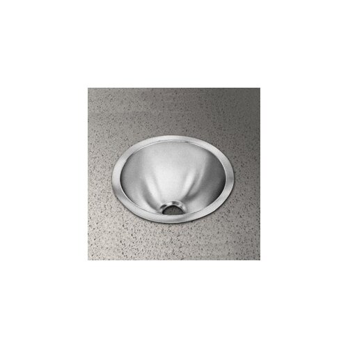 Elkay Round Bowl Stainless Steel Bathroom Sink with No Faucet Edge