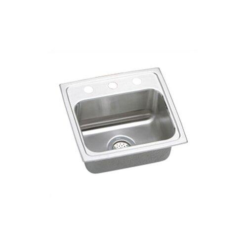"""Elkay Lustertone 17"""" x 16"""" Gourmet Kitchen Sink"""