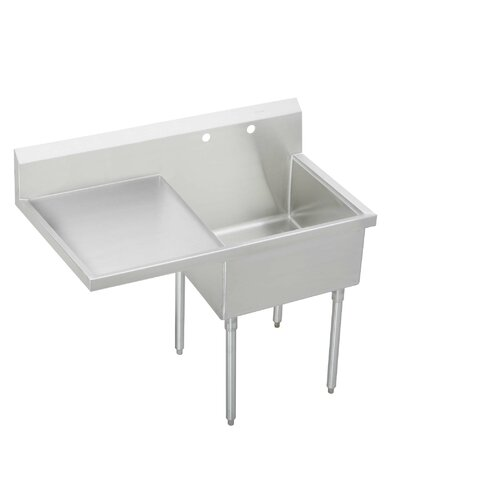 "Elkay Cs-4-Commercial 56"" x 28"" Scullery Sink"