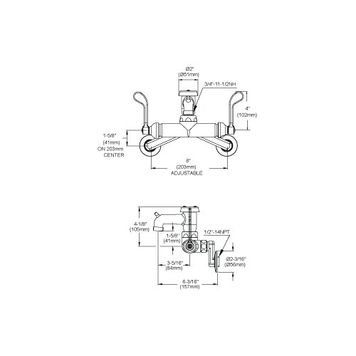 Elkay Wall Mount Commercial Faucet