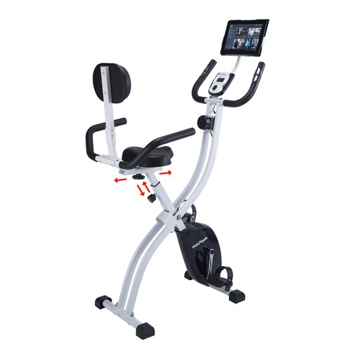 Innova Fitness Innova XBR450 Dual Function Folding Upright/Recumbent Bike with iPad / Tablet Holder