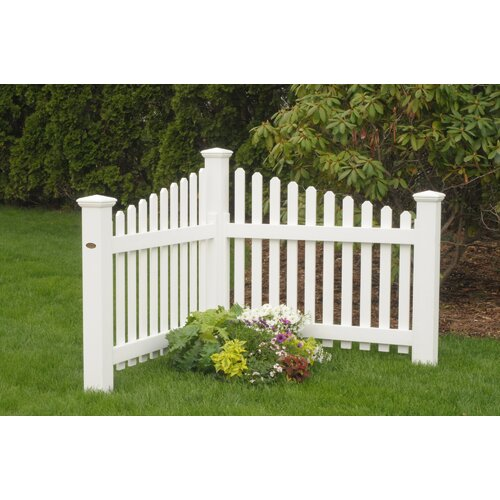 Highwood USA 4' x 4' Pottsville Decorative Corner Picket Fence