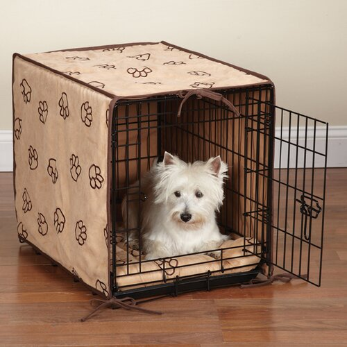 Pet Studio Proselect Pawprint 2 Piece Dog Crate Cover and Bed Set