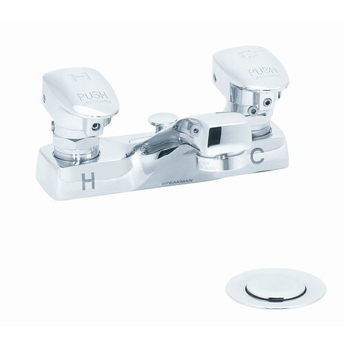Speakman Easy-Push Centerset Metering Faucet with Push Handle