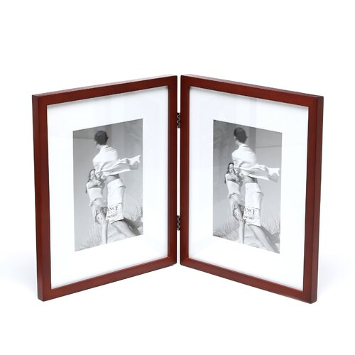 Lawrence Frames Contemporary Hinged Double Picture Frame
