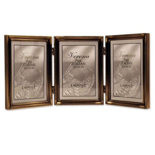 Lawrence Frames Bead Hinged Triple Picture Frame