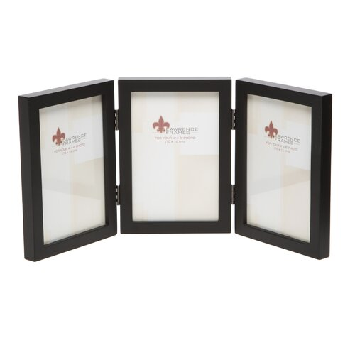 Lawrence Frames Gallery Hinged Triple Wood Picture Frame