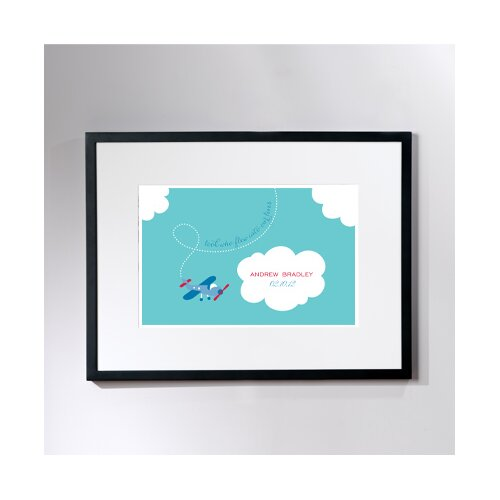 Personalized Tiny Skywriter Framed Graphic Art
