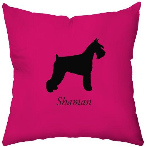 Personalized Schnauzer Poly Cotton Throw Pillow