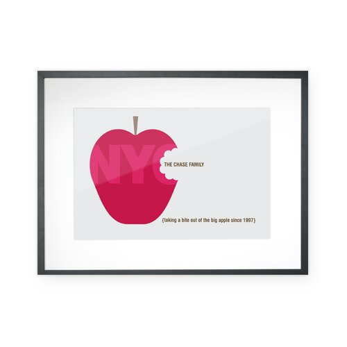 Personalized Big Apple Framed Graphic Art