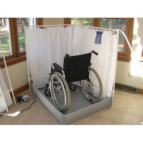 liteshower wheelchair accessible portable shower stall recliner model reviews wayfair. Black Bedroom Furniture Sets. Home Design Ideas